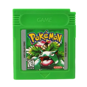 Harga Pokemon GBC Game Card Game Boy Advance GB GBC GBA SP Game Console Green Gifts - intl