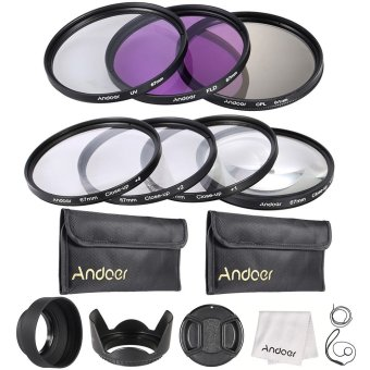 Harga Andoer 67mm UV + CPL + FLD + Close-up(+1+2+4+10) Lens Filter Kit
