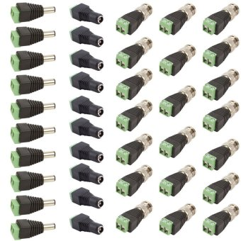 Harga 10 Set CAT5 TO BNC Passive Video and Power Balun Transceiver for CCTV(Export)