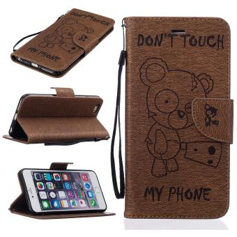 Harga Stand Wallet Purse Credit Card ID Holders Magnetic Flip Folio TPU Soft Bumper PU Leather Ultra Slim Fit Case Cover for Apple iPhone 7 Plus - intl
