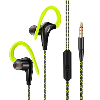 Fonge S760 Stereo Sport Earphone Headphones In-ear Headset 3.5mm With Mic Earbuds For All Mobile Phones (Green)
