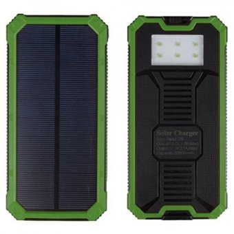 Harga Solar 36,000mah Power Bank green