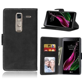 Harga Ueokeird Protective Stand Wallet Purse Credit Card ID Holders Magnetic Flip Folio TPU Soft Bumper Leather Case Cover for LG Class Zero H740 - intl