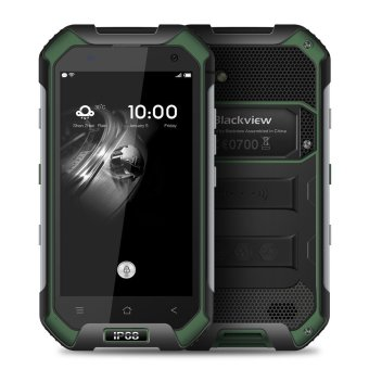 Harga Blackview BV6000 4G FDD-LTE Tri-proof Smartphone 3GB RAM 32GB ROM IP68 Waterproof Android 6.0 (Green) (EXPORT)