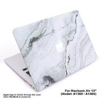 "Harga Lightning Power - Rubberized Plastic Hard Shell Cover Protective Case for MacBook Air 13"" (A1369 / A1466) (White Marble Pattern) - intl"
