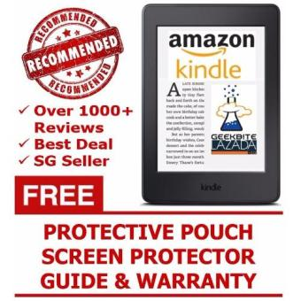Harga Amazon Kindle Voyage 2016 + Kindle Protective Pouch + Screen Protector (USA/Special Offers)