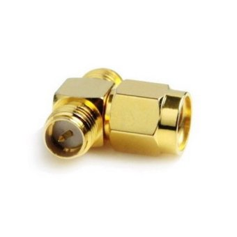 Harga RP-SMA Male to 2 RP-SMA Female Adapter (T Type), Gold Plated (Intl)