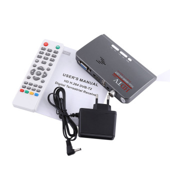 Harga Digital 1080P HD HDMI DVB-T2 TV Box Tuner Receiver Converter Remote Control With VGA Port - intl