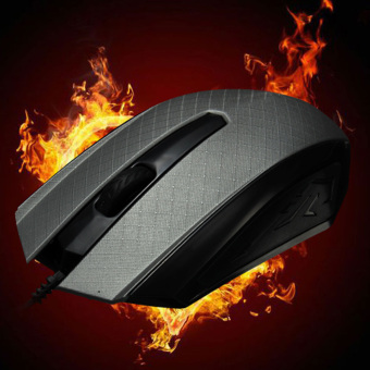 Harga USB Wired Optical Mouse Gaming Game Mice 1200 DPI For Pro Gamer (Grey) (EXPORT)