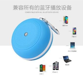 Harga Outdoor Protable speaker Bluetooth Card Box Car Speaker(Blue) - intl
