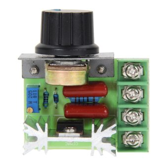 Harga 2000W SCR Electronic Voltage Regulator Speed Controller Dimmer Thermostat (Intl)