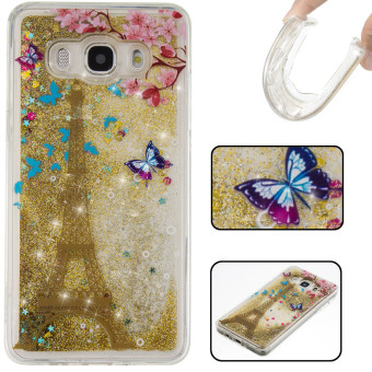 Harga Ueokeird 3D Cool Quicksand Moving Stars Bling Glitter Floating Dynamic Flowing TPU Case Cover For Samsung Galaxy J5 2016 / J510 - intl