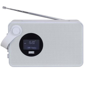Harga August MB415 - Portable DAB Clock Radio with NFC Bluetooth Speaker - DAB/DAB+/ FM Radio Tuner - USB and SD Card Reader - (White) - Intl