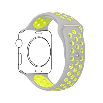 Harga Ontube For Apple Watch Band Nike+ Series 1 Series 2, Soft Silicone Sport Bracelet Replacement Strap for iwatch band M/L Size 38mm - intl