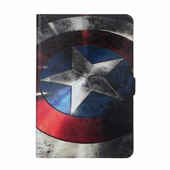 Harga For Samsung Galaxy Tab A T350 Painting Leather Back Cover Case(Captain America) - intl