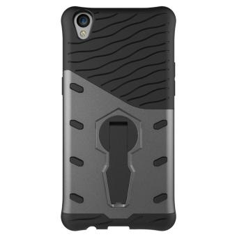 Heavy Duty Shockproof Dual Layer Hybrid Armor Defender Full Body Protective Cover with 360 Degree Rotating Kickstand Case for Oppo R9 - intl