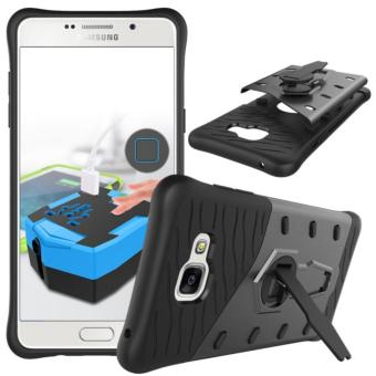 Heavy Duty Shockproof Dual Layer Hybrid Armor Defender Full Body Protective Cover with 360 Degree Rotating Kickstand Case for Samsung Galaxy A5 2016 - intl
