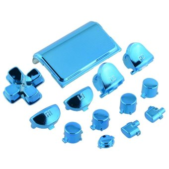 Cool Full Buttons Mod Chrome Blue For Sony Playstation 4 PS4 Joystick - intl