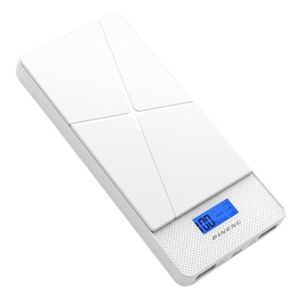 Harga Pineng PN983 10000mAH Lithium Polymer Slim PowerBank White