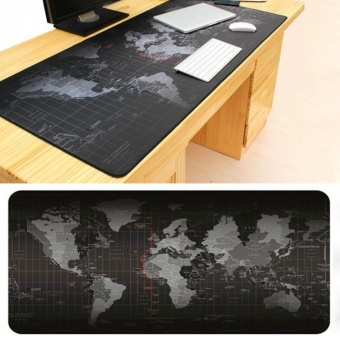 Harga Super Large Size World Map Speed Game Mouse Pad Laptop Gaming Mousepad Practical Office Desk Resting Surface Large Mat - intl