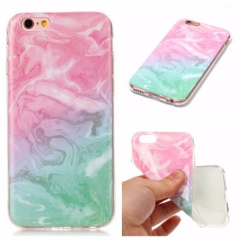 Harga Marble Pattern Soft Silicone TPU Phone Protector Cases Cover For Apple iPhone 6 / 6s (Multicolor) - intl