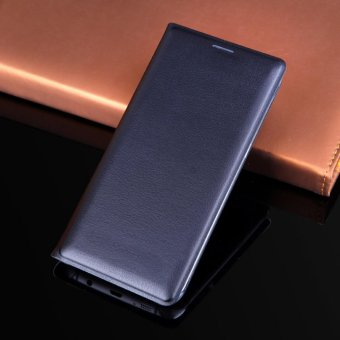 Asuwish Leather Case Flip Cover Wallet Card Holder Phone Cases for Samsung Galaxy S7 - intl