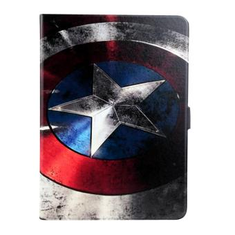 Harga For Samsung Galaxy Tab S2 9.7 T810 T815 Painting Leather Back Cover Case(Captain America) - intl
