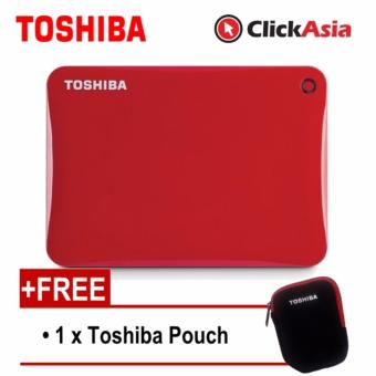 Harga Toshiba Canvio Connect II 2TB Portable HDD - Red (HDTC820AR3C1)