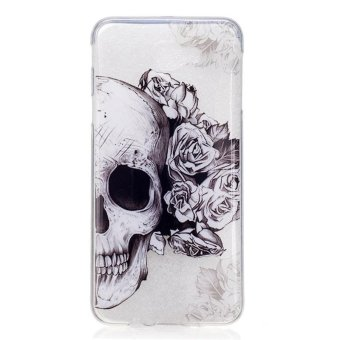 Skull TPU Soft Gasbag Back Case Cover For Samsung GALAXY J7 Prime Case - intl
