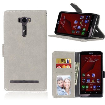 Harga Ueokeird Protective Stand Wallet Purse Credit Card ID Holders Magnetic Flip Folio TPU Soft Bumper Leather Case Cover for Asus ZenFone 2 Laser ZE601KL 6.0inch - intl