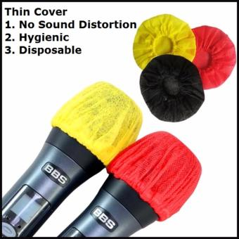 Harga 60 Disposable Thin Microphone Cover/ Microphone Foam(Red and Yellow) or (Black)