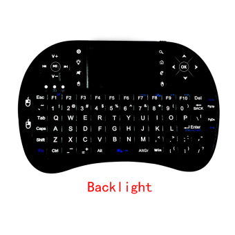 Harga Rii i8+ 2.4G Mini Wireless Keyboard with Backlit Backlight Multi-touch Touchpad US Layout Handheld for Andriod TV Box HTPC PC Pad (RT-MWK08+)