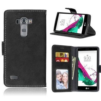Harga Ueokeird Protective Stand Wallet Purse Credit Card ID Holders Magnetic Flip Folio TPU Soft Bumper Leather Case Cover for LG G4 Beat / G4s H735 - intl