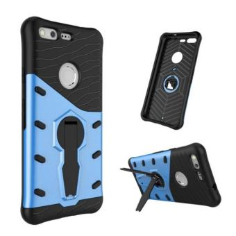 Heavy Duty Shockproof Dual Layer Hybrid Armor Defender Full Body Protective Cover with 360 Degree Rotating Kickstand Case for Google Pixel - intl