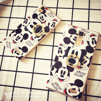 Harga Oppo r7plus mickey stand phone shell mobile phone sets of r7 r9 A53/r7s R9plus rings set