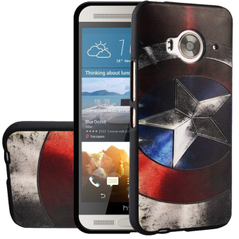 Harga RUILEAN Soft TPU Case For HTC One ME Captain 3D Embossed Painting Series Protective Cover
