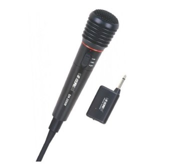 Harga 2 in 1 Wired Wireless Handheld Microphone Mic Receiver System Undirectional SN-308M Metal Body