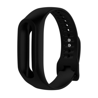 Harga Silicone Watchband Replacement for Tom Tom Touch Fitness Tracker Wristband(Black) - intl
