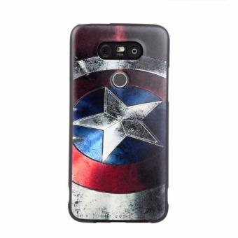 Harga For LG G5 TPU 3D Painting Cover Case(Captain America) - intl