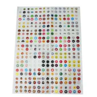 AC 330 Pcs Cute Cartoon Home Button Stickers For iPhone 4 4S 5 5C 5S 6 6S Practical - intl