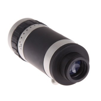 XH 8X Zoom HD Optical Lens Telescope for Mobile Phone Camera Silvery (EXPORT)