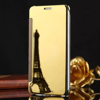 Asuwish Luxury Flip Case Transparent Clear View Mirror Cover Phone Cases For Samsung J7 Prime - intl