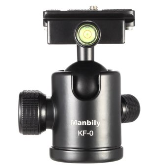 Harga Manbily KF-0 Camera Ball Head Tripod Head Panoramic Head Sliding Rail Head with 2 Built-in Spirit Levels Aluminum Alloy Max. Load Capacity 15Kg (EXPORT)