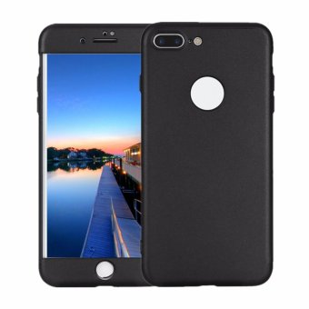 Harga TKOOFN 3 in 1 Ultra Slim Hybrid Shockproof Defender PC Hard Protective Case Cover for iPhone 7 Plus(Black) - intl