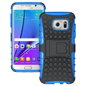Harga Ueokeird Heavy Duty Shockproof Dual Layer Hybrid Armor Protective Cover with Kickstand Case for Samsung Galaxy S7 Edge - intl