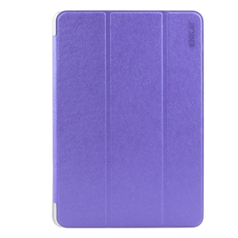 Harga ENKAY Silk Texture PU Leather + Translucent Frosted Plastic Case with 3-folding Holder for Samsung Galaxy Tab S2 8.0 / T715(Purple)
