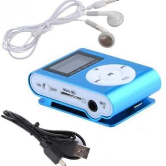Harga Hot sale mini MP3 Player Clip USB FM Radio LCD Screen with TF/SD card slot ,support for 32GB Micro TF/SD (BLue) - intl