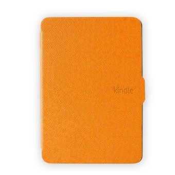 Harga GAKTAI Leather Smart Tablet PC Case for Amazon Kindle Paperwhite & Screen Protector &Stylus Pen (Orange)