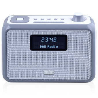 Harga August MB400 - DAB/DAB+ Radio with NFC Bluetooth Wireless Speaker, Alarm Clock and FM Tuner - Portable Radio and MP3 Player: SD Card Reader / 3.5mm Audio In - Compact Stereo System (Gray) - Intl