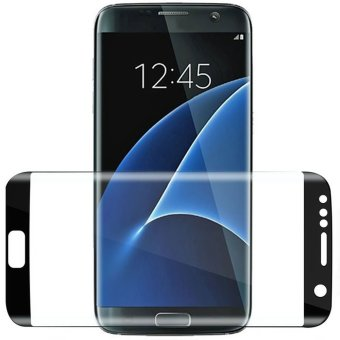 HD Clear Tempered Glass Full Screen Cover Protector Film for Samsung Galaxy S7 Edge 5.5 Inch (Black)